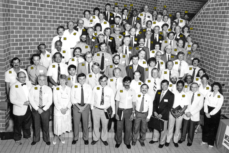 1987 AAVA Meeting Group Photo - Madison
